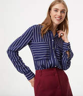 LOFT Mixed Stripe Boyfriend Shirt