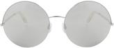 Victoria Beckham Round Platinum Sunglasses
