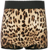 Dolce & Gabbana leopard print French knickers