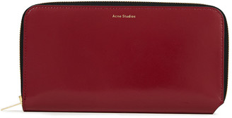 Acne Studios Flourite Leather Continental Wallet