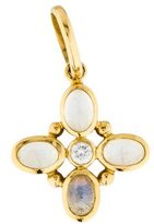 Temple St. Clair 18K Diamond & Moonstone Pendant