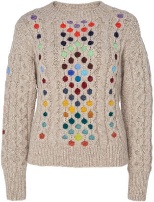 Rosie Assoulin Wool Cable-Knit Sweater