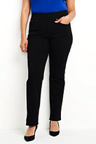 Lands' End Women's Plus Size Pull-on Straight Jeans-Burgundy