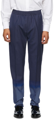 Givenchy Navy and Blue Wool Jogger Trousers