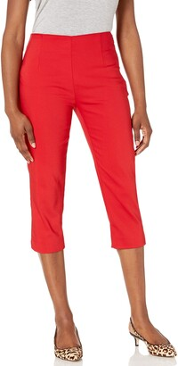 Chaps Women's Petite Cotton Blend Capri Pant