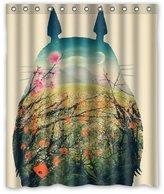 SKCASE Cute Cartoon My Neighbor Totoro shower curtain 60x72 inch