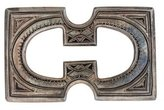 Hermes Sterling Touareg Belt Buckle