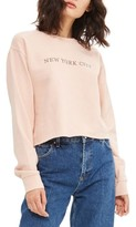 Topshop Women's New York City Embroidered Sweatshirt
