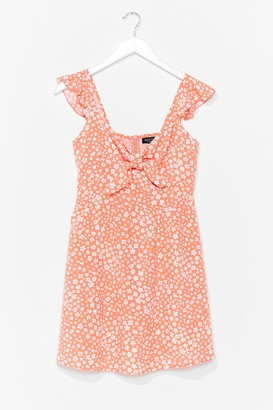 Nasty Gal Womens Plant Shake the Feeling Floral Mini Dress - Coral