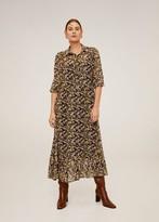 MANGO Floral print long dress khaki - 2 - Women