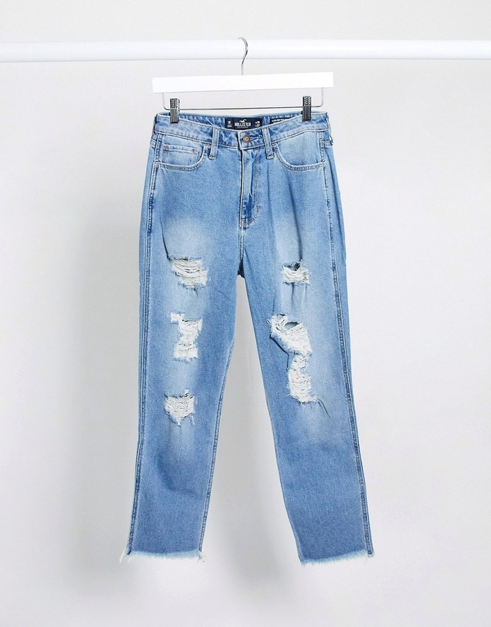Hollister Distressed Mom Jeans
