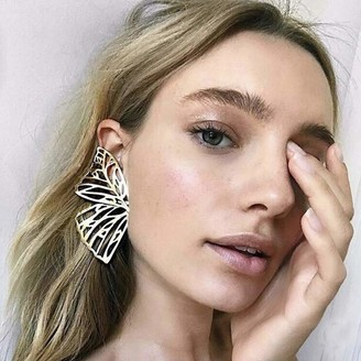 Janly Clearance Sale Womens Earrings Women Exaggerated Fashion Simple Butterfly Alloy Metal Hollow Earrings