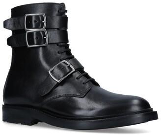 Saint Laurent Leather Buckled Ankle Boots 20