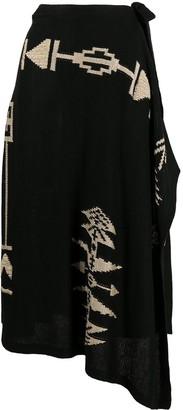 Polo Ralph Lauren Asymmetrical Pattern Skirt