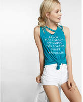 Express beach slash neck tank