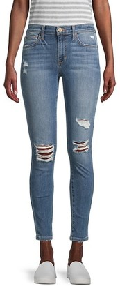 Joe's Jeans Mid-Rise Skinny Ankle-Crop Distressed Jeans