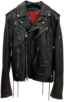 Alexander McQueen Black Leather Jackets