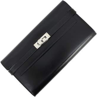 Hermes Kelly Black Leather Wallets