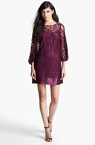 Laundry by Shelli Segal Blouson Sleeve Lace Shift Dress (Regular & Petite)