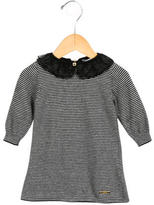 Little Marc Jacobs Girls' Striped Lace-Collared Dress