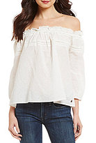 Roxy Beach Fossil Off-The-Shoulder Knit Top