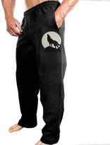 APINANNEI Men's Wolf And Moon Sweatpants