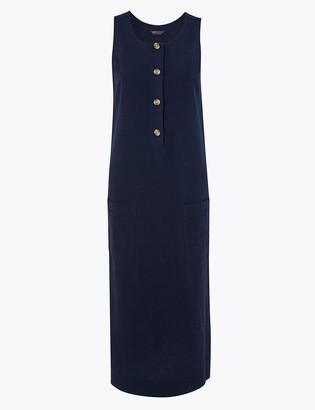 Marks and Spencer Linen Blend Shift Midi Dress
