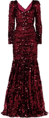 Dolce & Gabbana Sequinned Gown