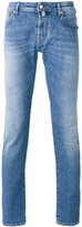 Jacob Cohen faded slim fit jeans - men - Cotton/Spandex/Elastane - 34