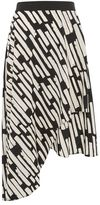 Topshop Striped asymmetric midi skirt