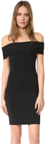 Alexander Wang Rib Knit Off Shoulder Dress