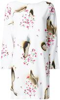 Moschino burned effect floral dress