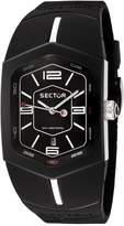 Sector R3251101025 32.2x59.5mm Stainless Steel Case Black Steel Bracelet Acrylic Men's Watch