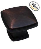 GlideRite Hardware GlideRite 81091-ORB (Pack of 10) Oil Brushed Bronze Square Deco Cabinet Knob