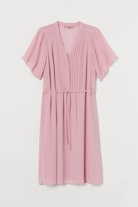 H&M H&M+ Pin-tuck Dress - Pink
