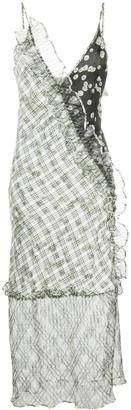 Brøgger Mixed Print Slip Dress