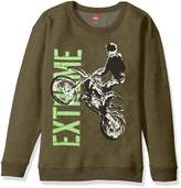 Hanes Boys` EcoSmart Graphic Crewneck Sweatshirt, OD108, S
