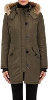 Barneys New York WOMEN'S HOODED INSULATED PARKA-GREEN SIZE M