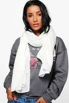 Boohoo Ivy Fine Knit Supersoft Oversize Scarf