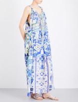 Camilla Porcelain Paradise silk-georgette maxi dress