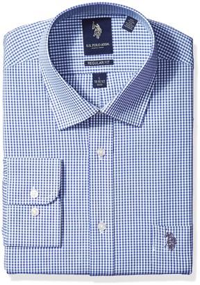 U.S. Polo Assn. Men's Regular Fit Semi Spread Collar Dress Shirt