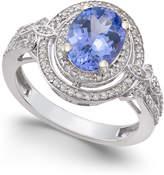 Macy's Tanzanite (1-3/4 ct. t.w.) and Diamond (2/5 ct. t.w.) Ring in 14k White Gold