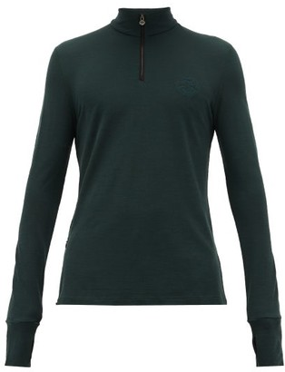 Iffley Road Thorpe Wool-pique Running Top - Mens - Green