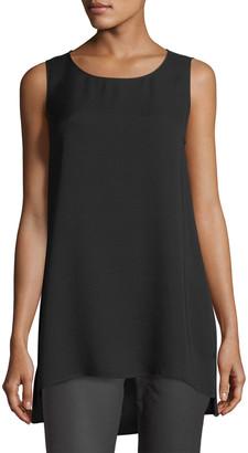 Lafayette 148 New York Plus Size Ruthie Sleeveless High-Low Silk Blouse