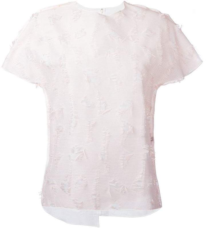 Julien David textured T-shirt