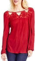 Jessica Simpson Fifi Long Sleeve Lace Top