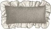"Pine Cone Hill Ruffled Savannah Double Boudoir Pillow, 15"" x 35"""