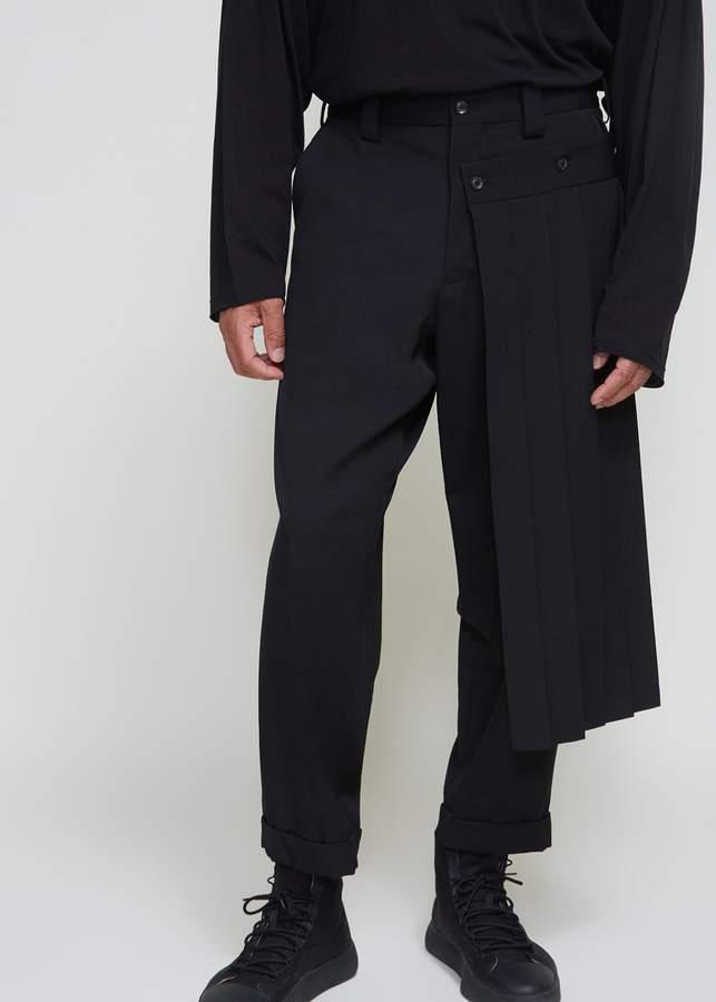 Yohji Yamamoto Gabardine Pleated Kilt Pant
