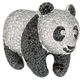 18K Diamond Panda Brooch