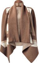 Pringle of Scotland Oak/Camel Jacquard Poncho Style Jacket